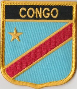 Congo Democratic Republic Embroidered Flag Patch, style 07.